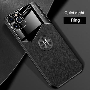 Vipomall Luxury PU Leather Magnetic Holder Case For iPhone 12