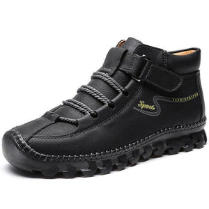 Vipomall Men Wear-resistant Casual Leather Shoes
