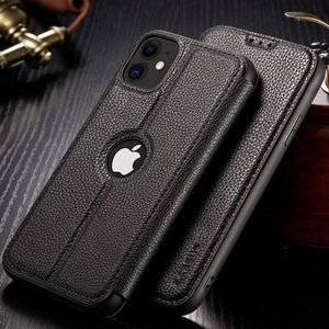 Vipomall Retro Card Slot Wallet Litchi Leather Cases For iPhone(Buy 2 Get 10% OFF)