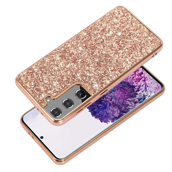 Vipomall Bling Glitter Plating Frame Case For Samsung Galaxy S21 Series
