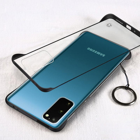 Vipomall Frameless Transparent Slim Matte Cases With Ring For Samsung Galaxy Note 20/Ultra