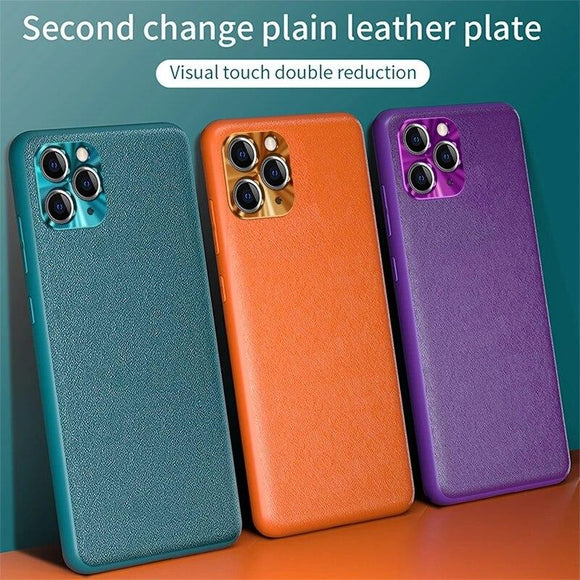 Vipomall Luxury Soft Vegan Leather Cover Case for iPhone 12