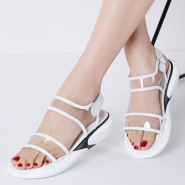 Women Jelly Beach Platform Sandals
