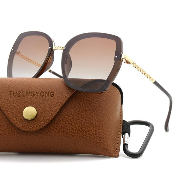 Women Luxury Oversized Square Frame Sunglasses
