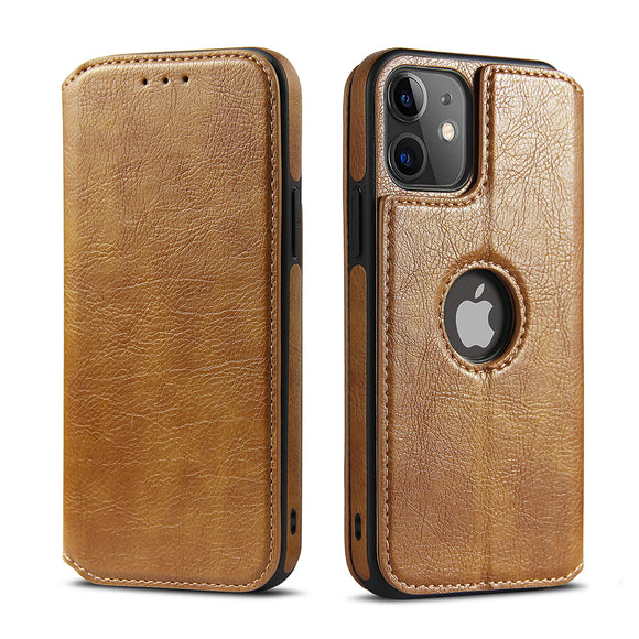 Vipomall Vintage Leather Magnetic Flip Wallet Case For iPhone 12 Series(BUY 2 GET 10% OFF)