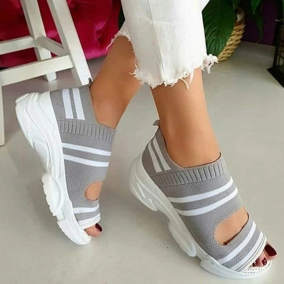 Summer Sandal Striped Thick Bottom Sports Sneakers