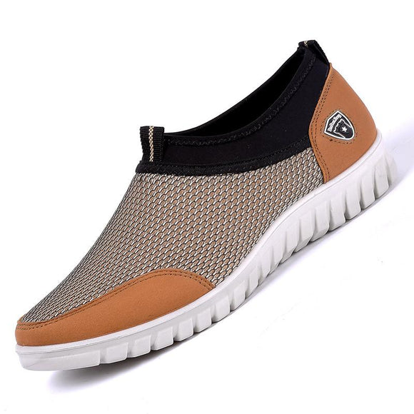 Vipomall Men's Mesh Breathable Casual Slip-On Shoes