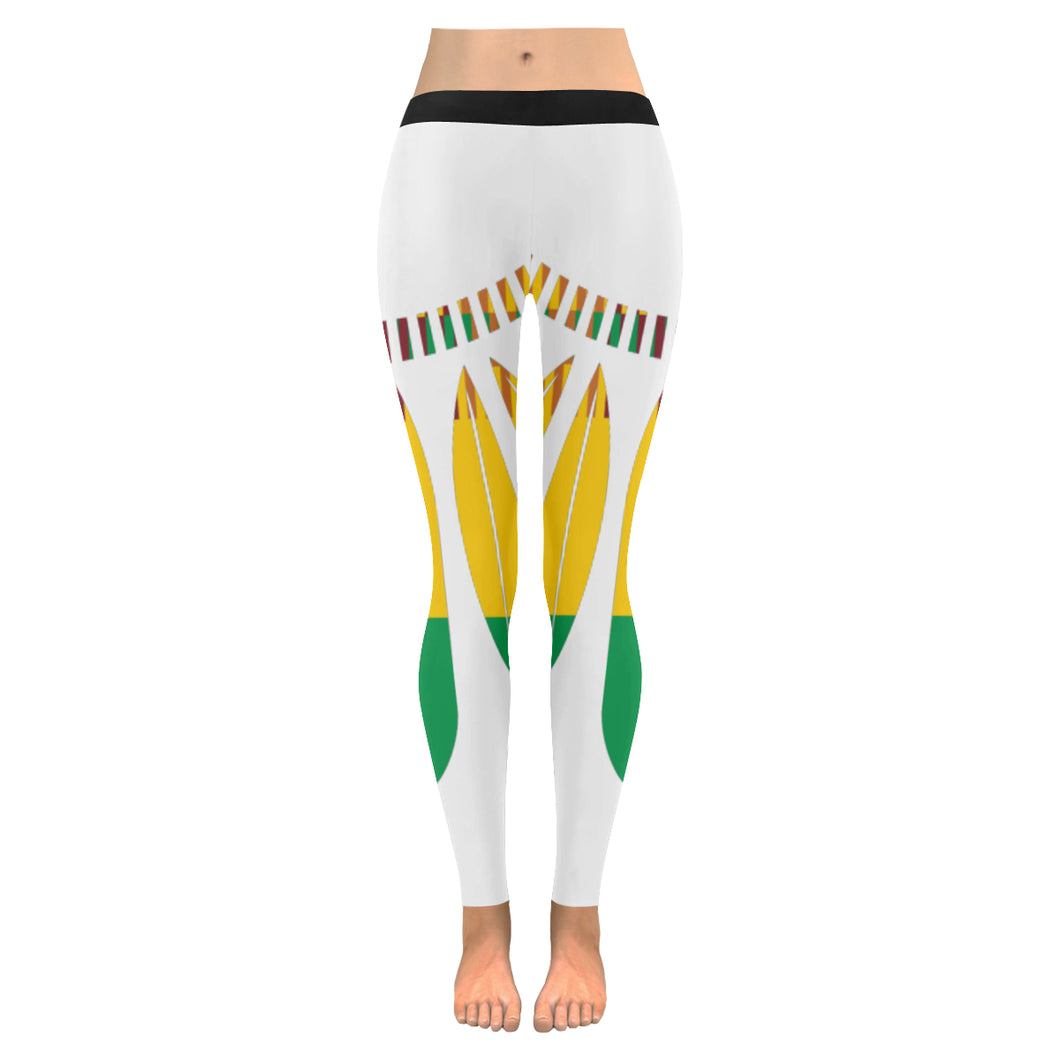 Women's Leaf Leggings - White - Lord Merchx