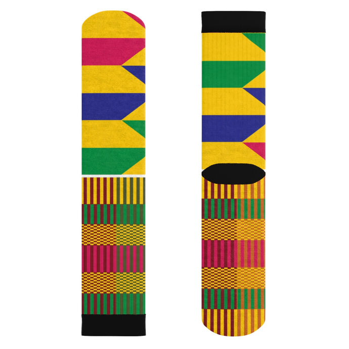 Gold Kente Socks - Lord Merchx
