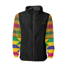 kente Windbreaker - Black & Gold - Lord Merchx