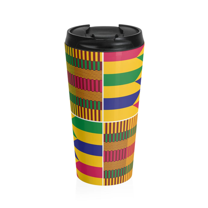 Kente Stainless Steel Travel Mug - Lord Merchx