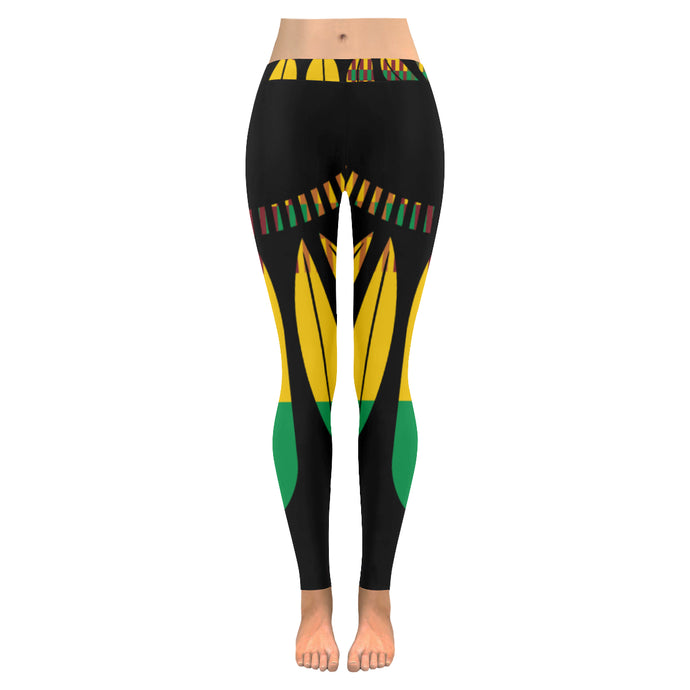 Women's Leaf Leggings - Black - Lord Merchx