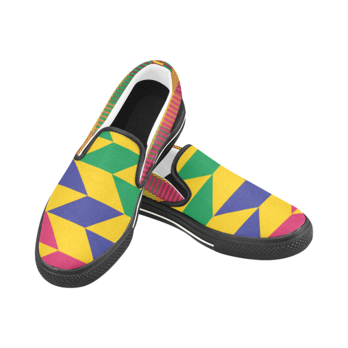 Ama Kids Kente Slip-on Shoes - Gold Kente - Lord Merchx