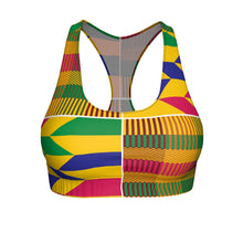 Women's Kente Sports Bra - Gold Coast - Lord Merchx