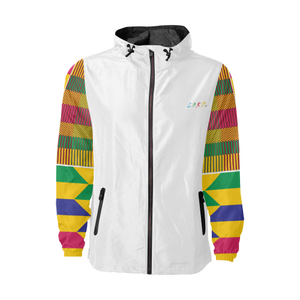 kente Windbreaker - White & Gold - Lord Merchx