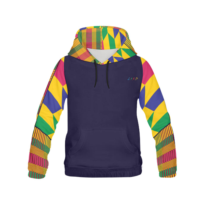 Men's Kente Hoodie - Printed Arms - Lord Merchx