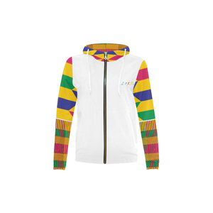 Kid's Hoodie Gold Kente - Lord Merchx