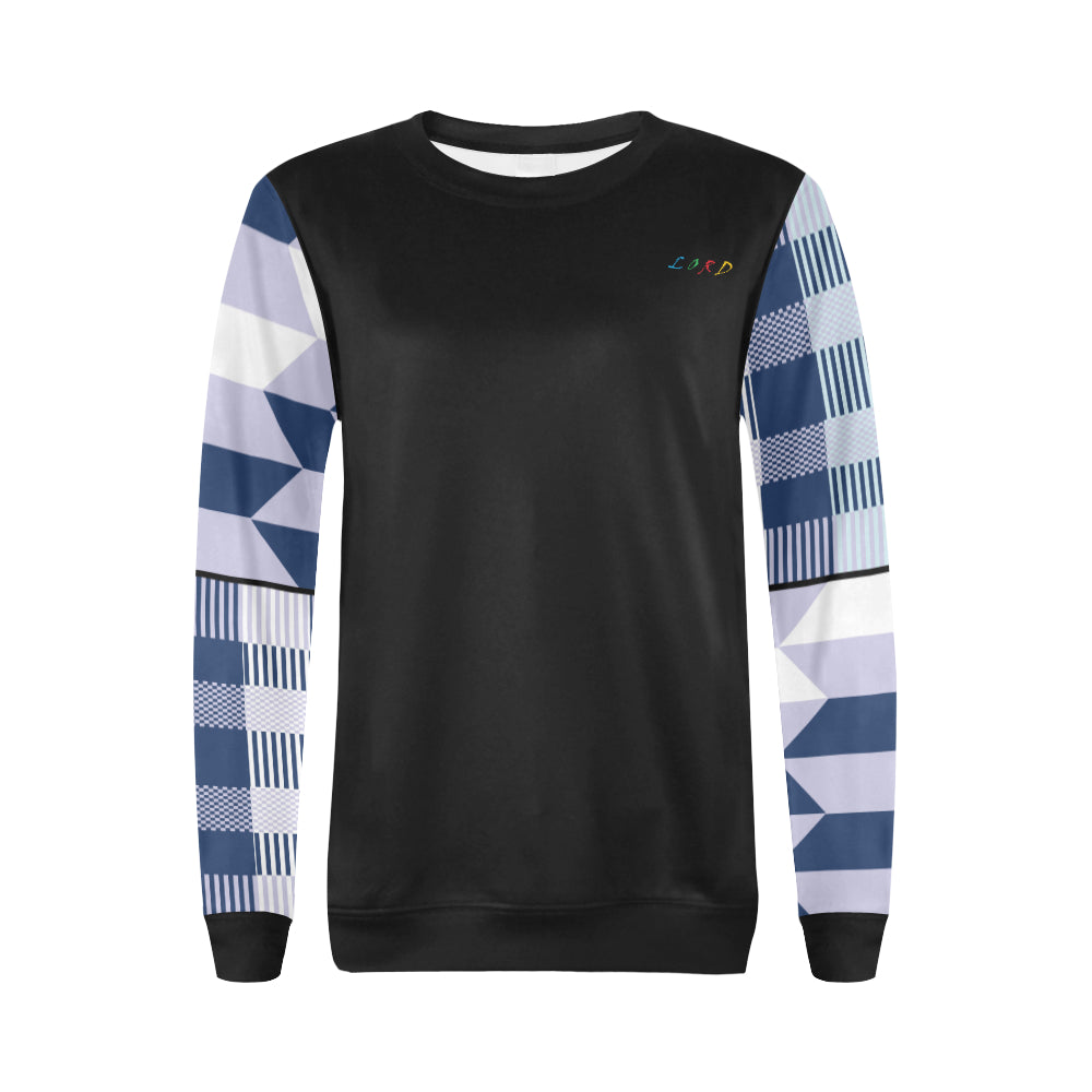 Women's Sweatshirt Blue Kente - Lord Merchx