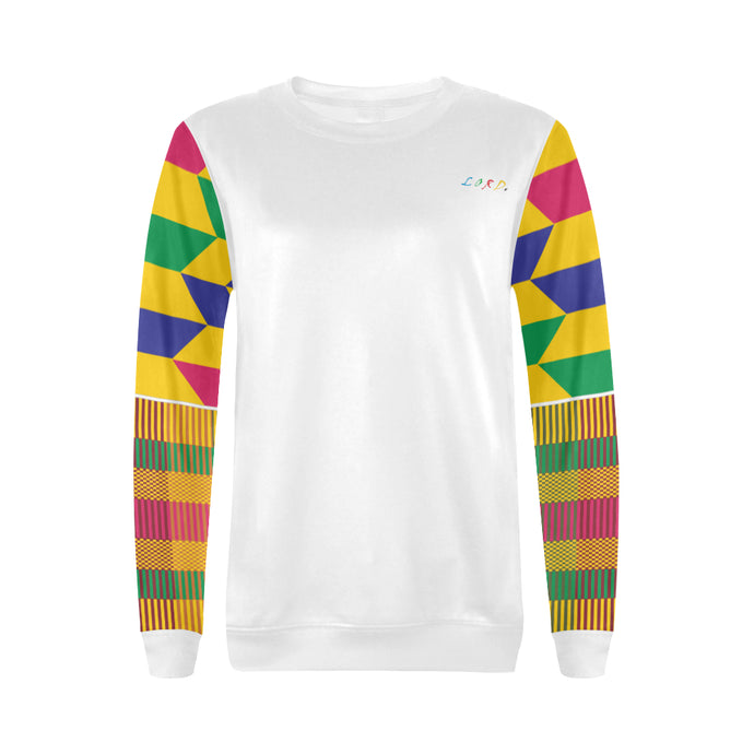 Women's Sweatshirt Gold Kente - Lord Merchx