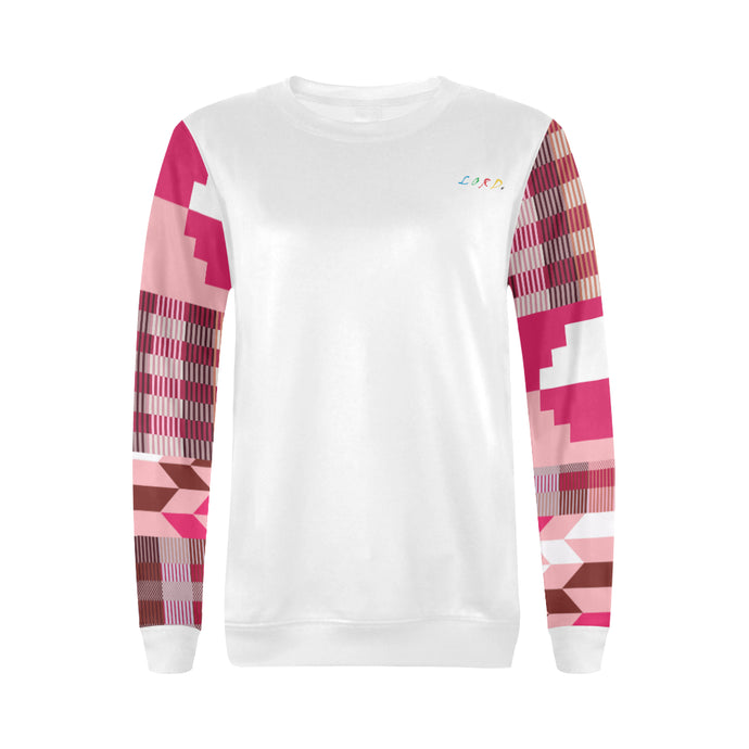 Women's Sweatshirt Pink Kente - Lord Merchx