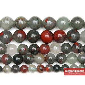 Natural African Blood Stone Round Gem. - Lord Merchx