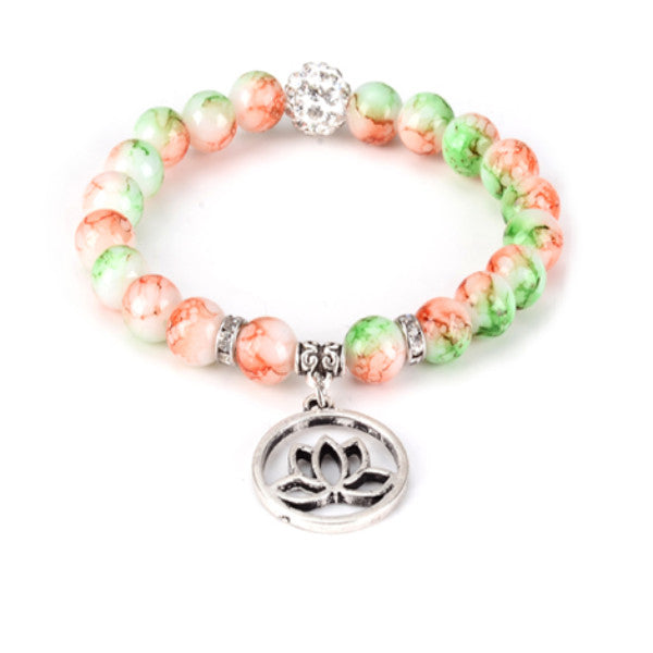 Lotus Bead Yoga Bracelet - Lord Merchx