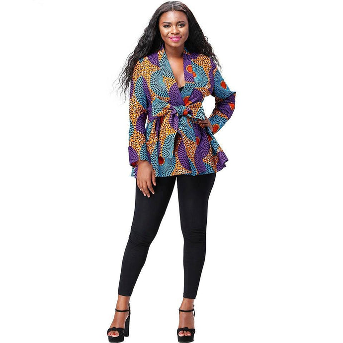 Akua Women's Ankara Coat - Lord Merchx