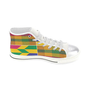 Ekow Kids high top canvas shoe - Gold kente - Lord Merchx