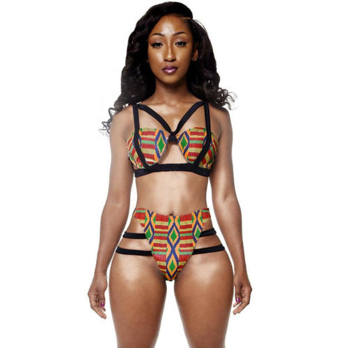 African Distinctive Ladies Womens Swimsuit Print Inspired