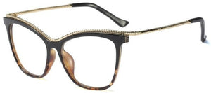 Fashion Glasses Clear Oversized