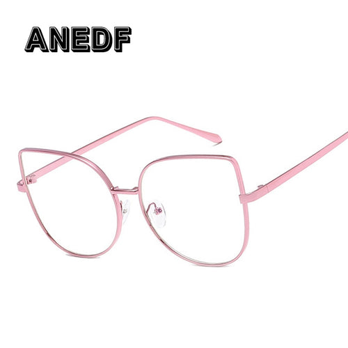 Clear Cat Frame Fashion Glasses