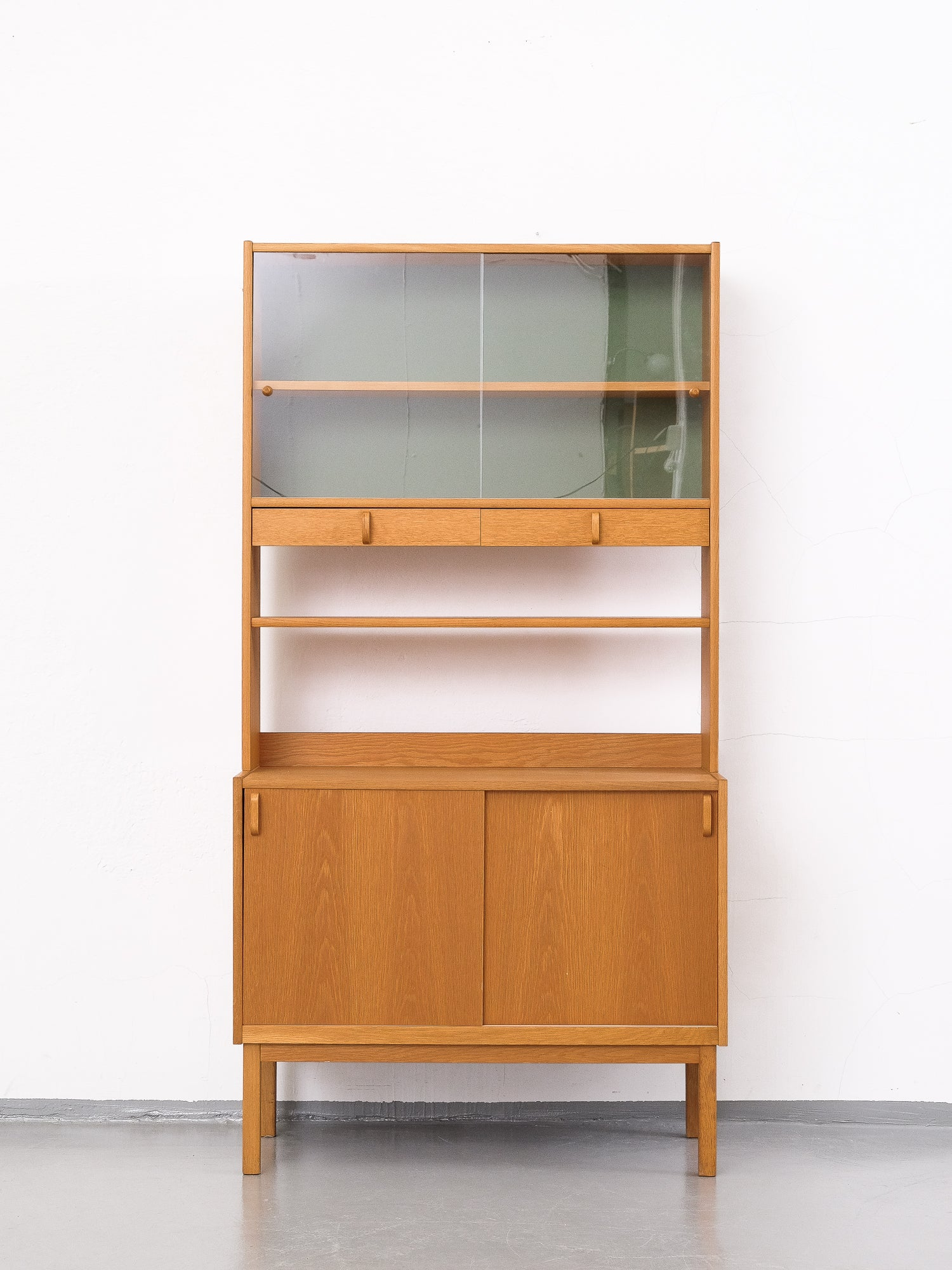 Oak Bookcase with Glass Doors by Bertil Fridhagen for Bodafors, 1960s