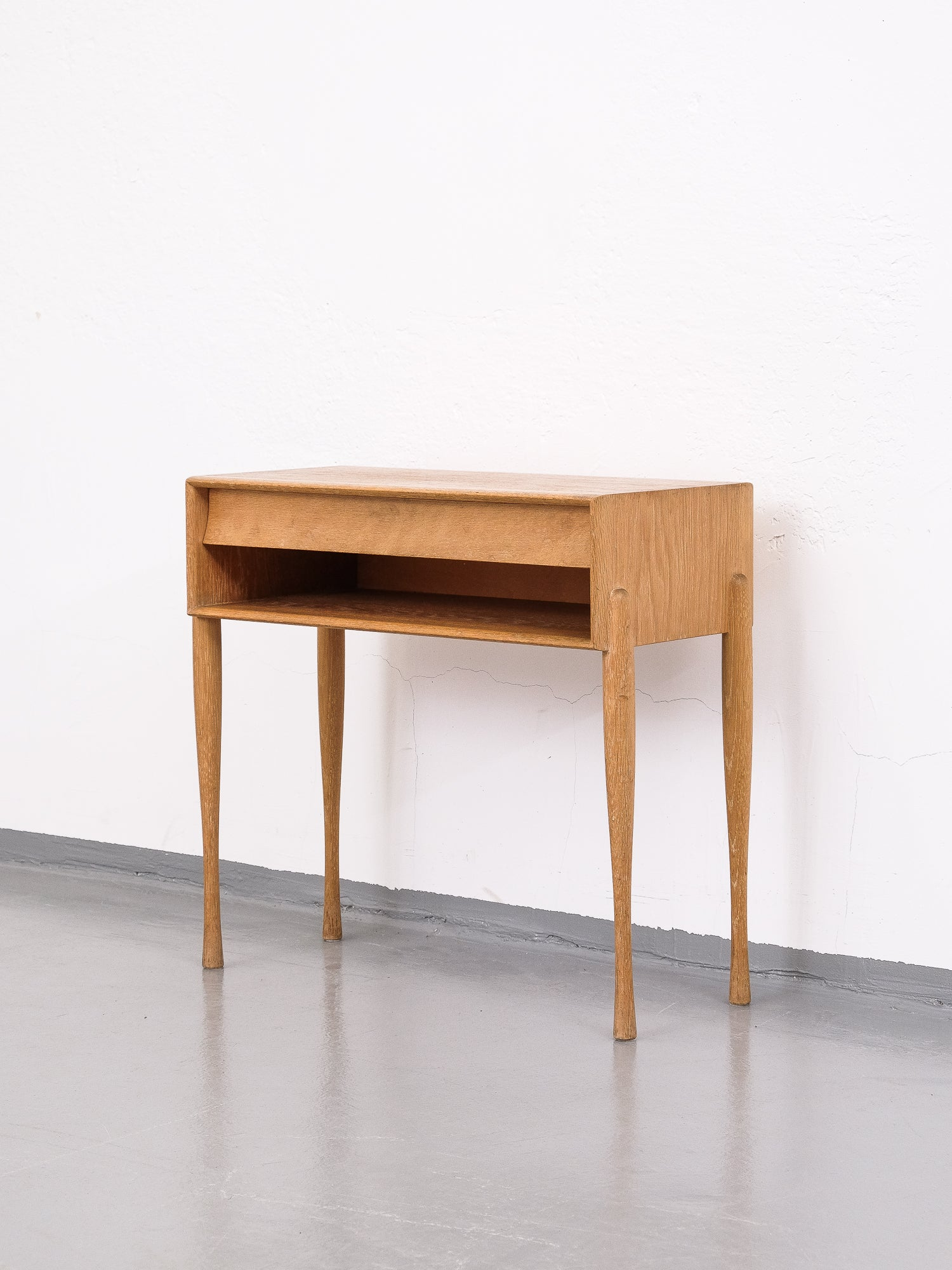 Single Drawer Chest/Table in Oak, G & T Hovmantorp, Sweden 1960s