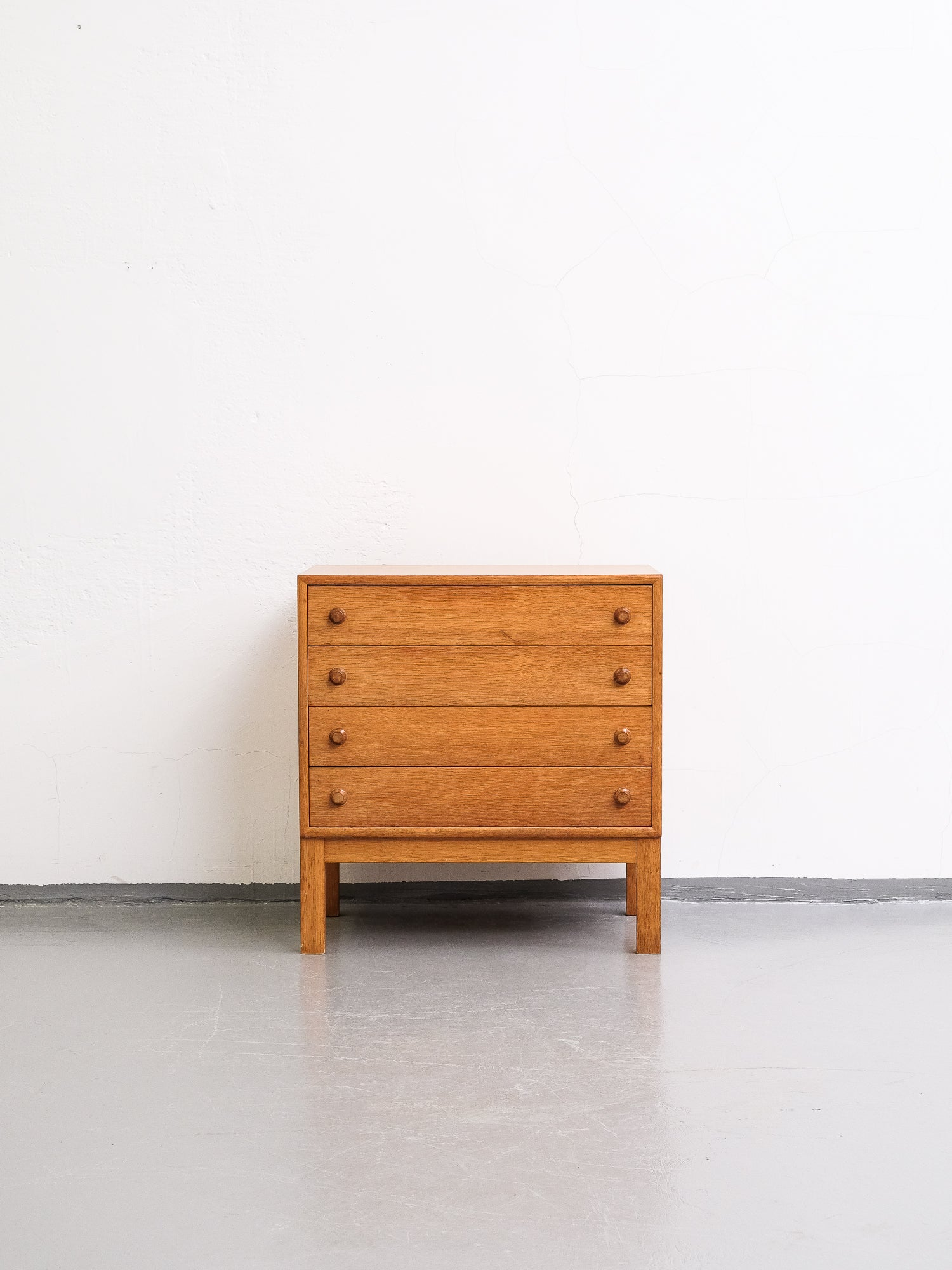 Four Drawer Chest in Oak, 1960s