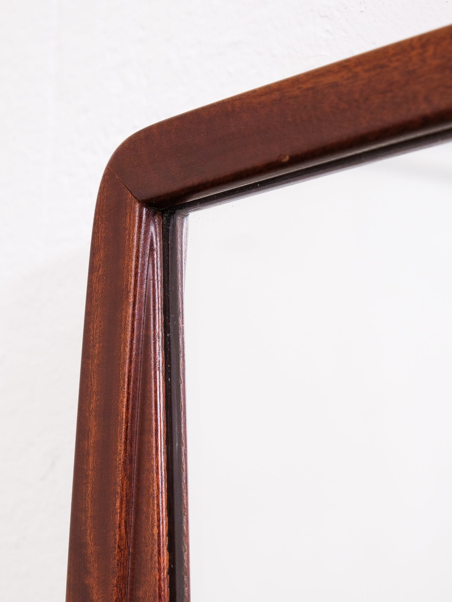 Midcentury Swedish Mahogany Wall Mirror