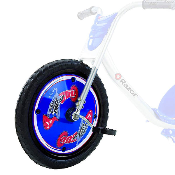 RipRider Front Wheel w/Pedal & Cranks - Blue