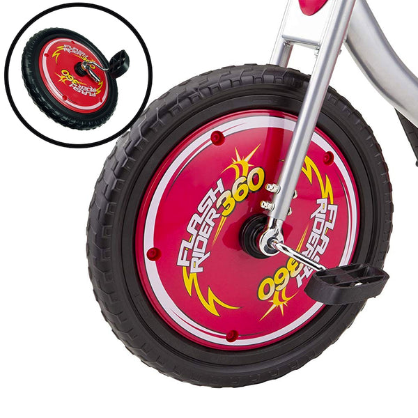 Flash Rider Front Wheel w/Pedals & Cranks - Red