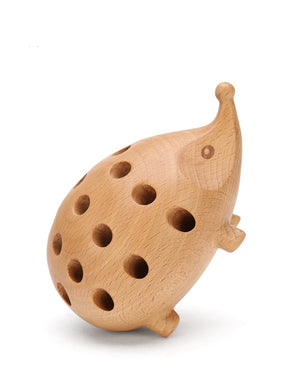Hedgehog Wood Pencil Holder
