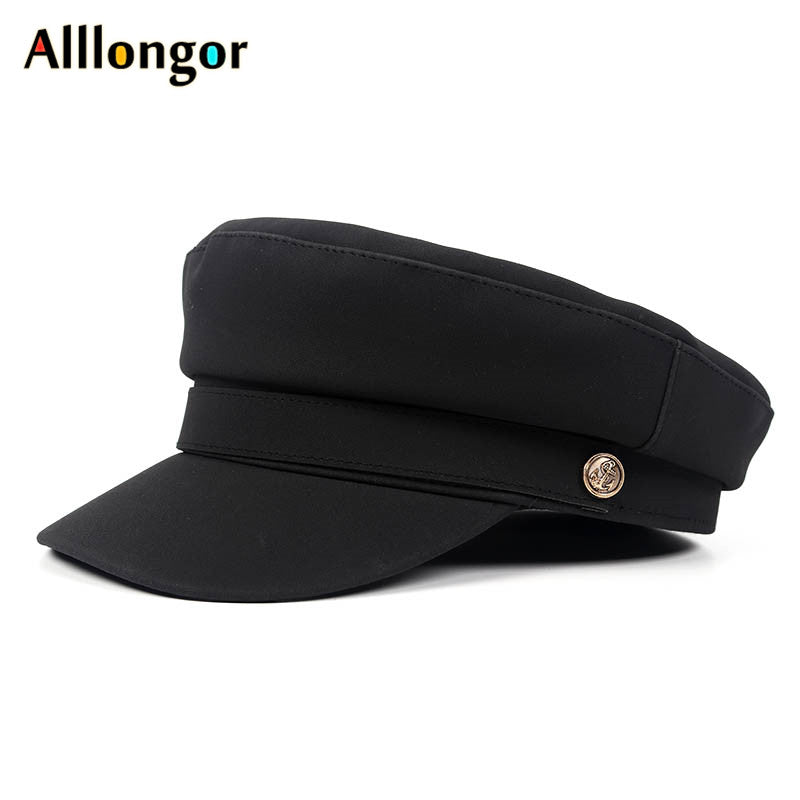 Faux Leather Military Hat - More Colors!