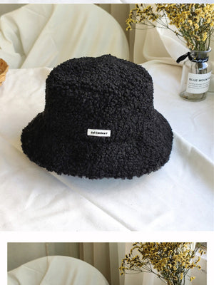 Teddy Plush Bucket Hat