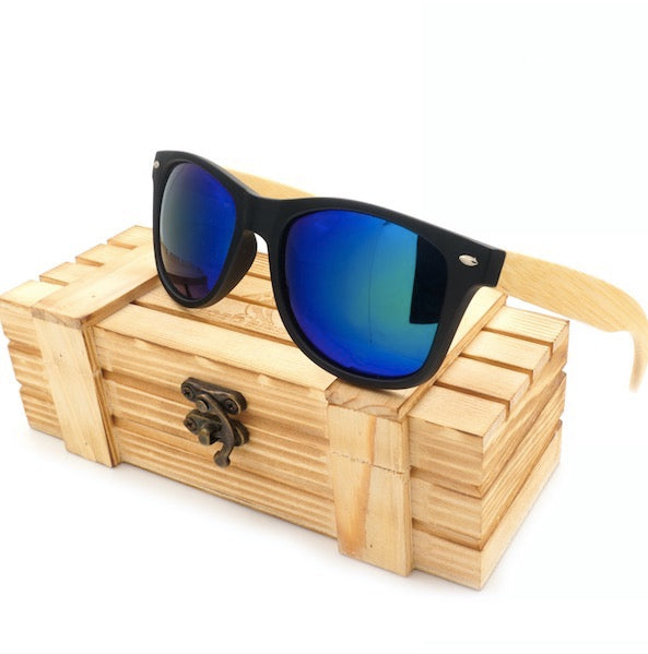 BOBO BIRD Bamboo-Temple SQUARE Shape Sunglasses