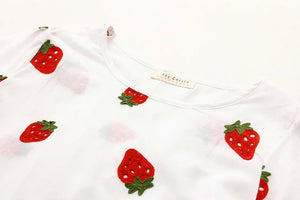 TWEENS Japanese Strawberry Embroidered Dress