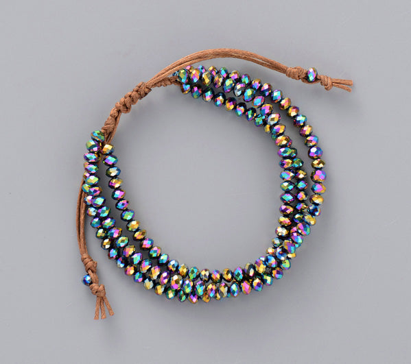 3-LAYER Crystal Bead Bracelet - More Colors!