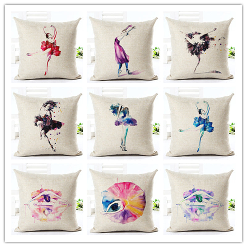 DANCING GIRL Cushion Cover