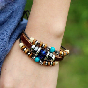 Boho Beaded Multilayer Bracelet