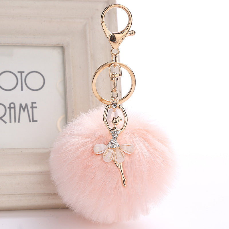 PomPom DANCERS' Keychain or Backpack Pendant - More Colors!