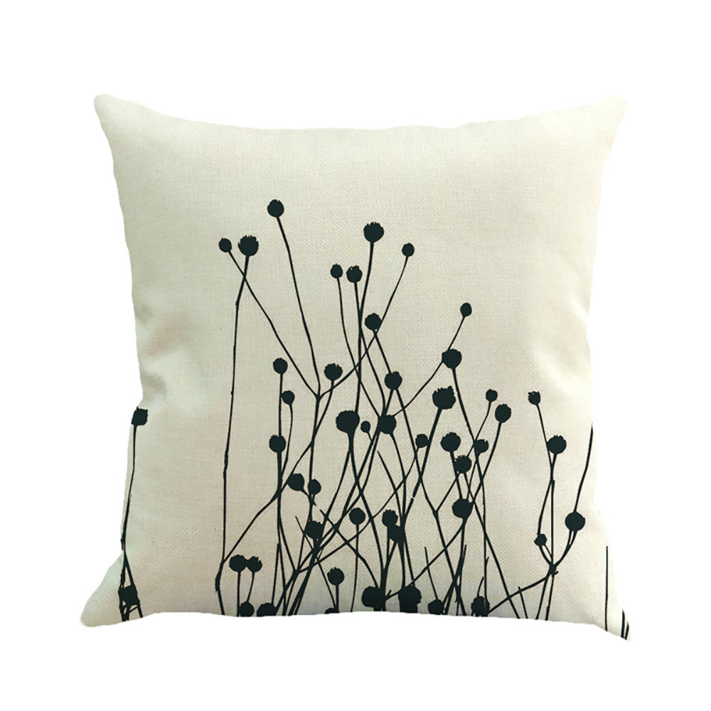 BLACK & WHITE Cotton Linen Blend  Cushion COVER - More Designs!