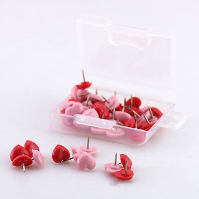 Heart shape 50pcs Plastic Cork Board Thumbtacks