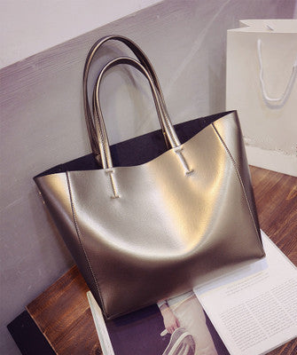 Gold or Silver Large Tote