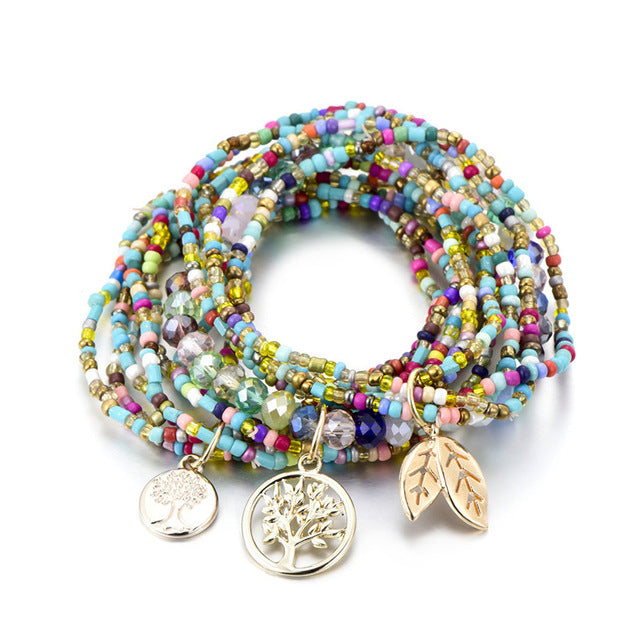 Bohemian CRYSTAL beads Bracelet for your BFF